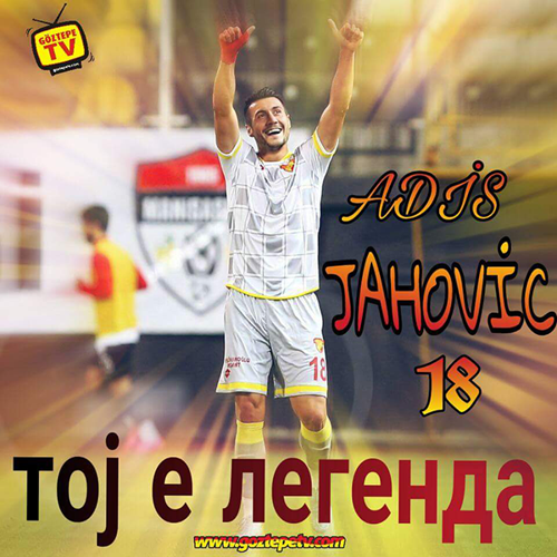 Göztepe fans published a photo of Adis Jahovikj saying 'he is a legend' in Macedonian to honor his fine form, photo: Goztepe TV